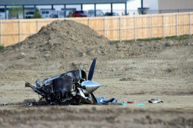 Twin-engine plane caught on fire before crashing in Loveland and killing pilot, report says