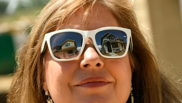 New homes are reflected in the ...
