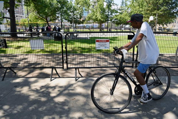 Denver closes Sonny Lawson Park in Five Points, pushing out homeless