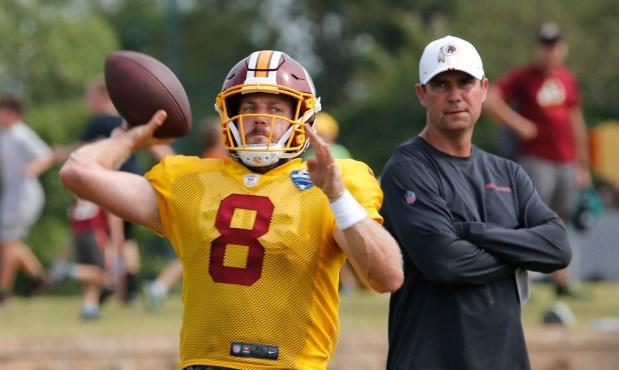 Washington Redskins quarterback Case Keenum (8) ...