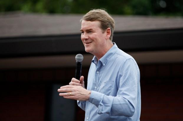 Democratic presidential candidate Sen. Michael Bennet, ...
