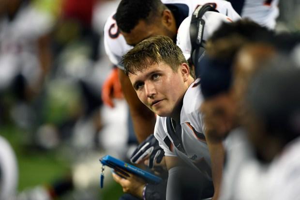 Quarterback Drew Lock #3 of the ...