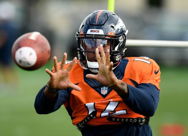 Denver Broncos wide receiver Courtland Sutton, ...