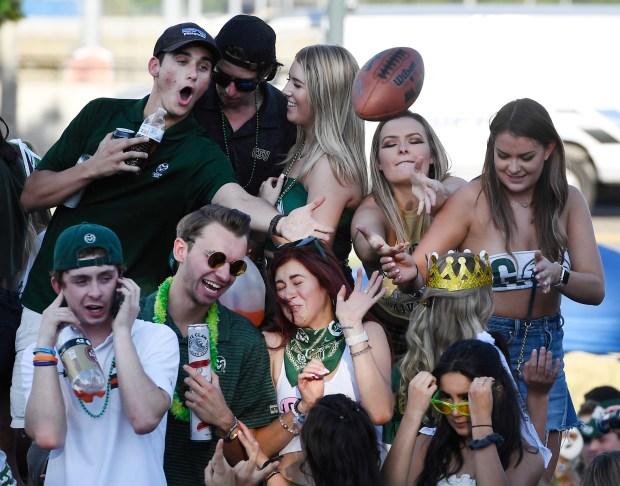 Colorado State students enjoy a rowdy ...