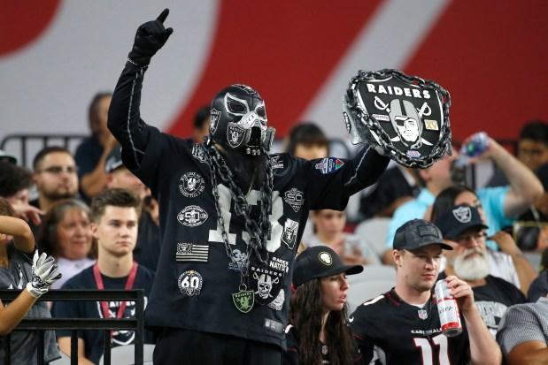 Oakland Raiders fans during an an ...