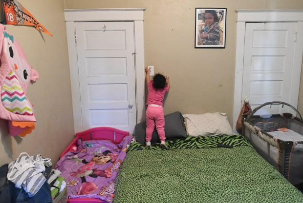 Ruby Ortiz, 2, turns on the ...