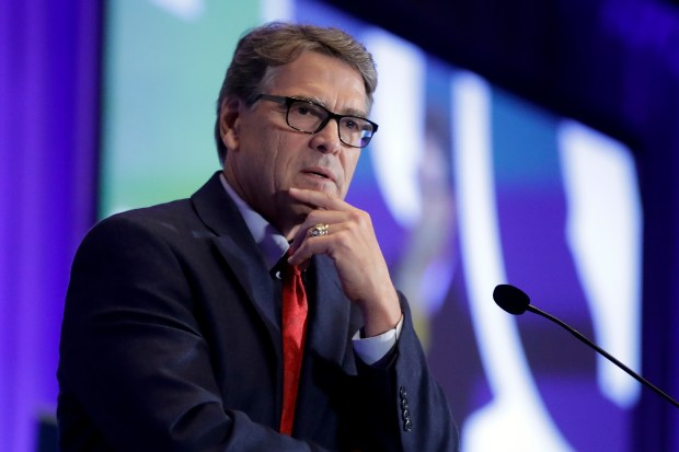 Energy Secretary Rick Perry speaks ...