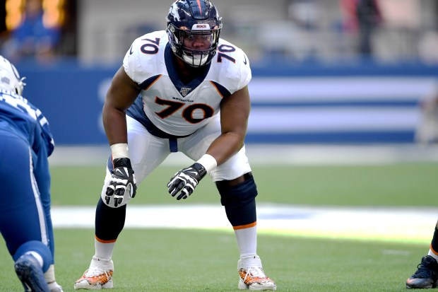 Denver Broncos offensive tackle Ja'Wuan James ...