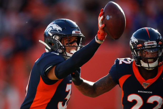 Denver Broncos free safety Justin Simmons, ...