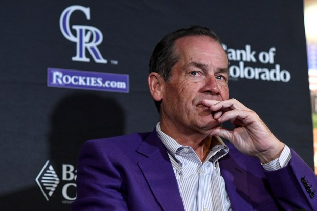 Owner Dick Monfort at Coors Field ...