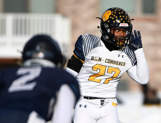 Texas A&M-Commerce DB Darius Williams (27) ...