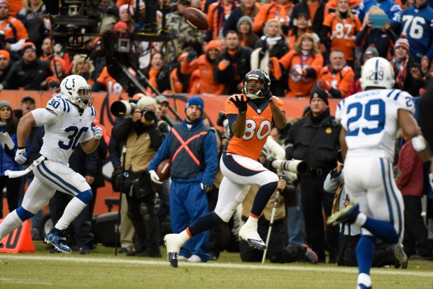 Julius Thomas (80) of the Denver ...
