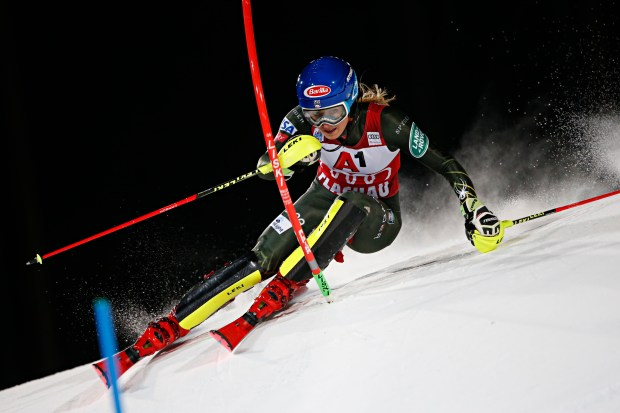 Mikaela Shiffrin of USA in action ...