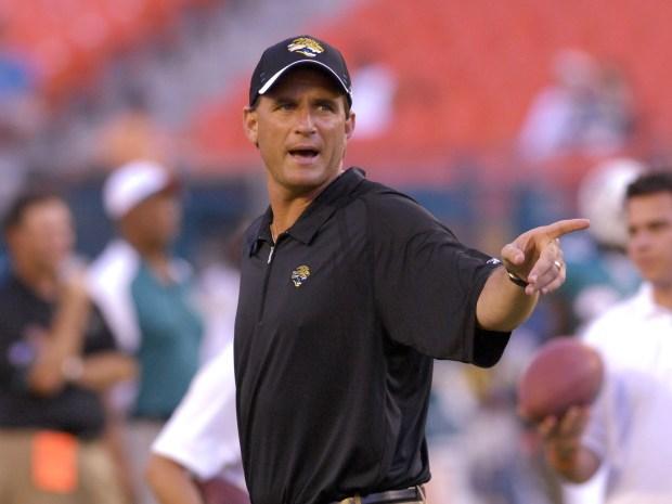 Quarterback coach Mike Shula of the ...