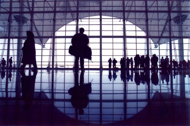 Denver International Airport in 1995. Photo ...