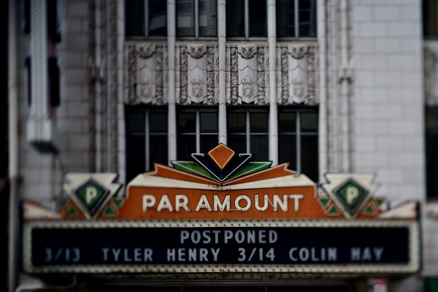 The Paramount Theatre in downtown Denver, ...