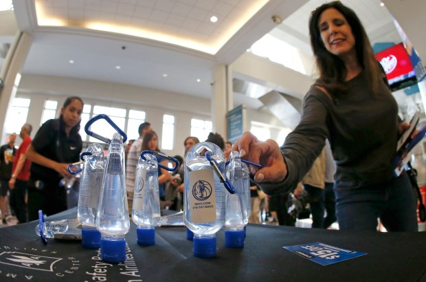 Fans reach for hand sanitizer before ...