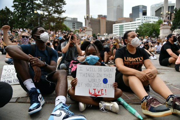 Demonstrators take to Denver's streets on foot and in cars for eighth day of George Floyd protests