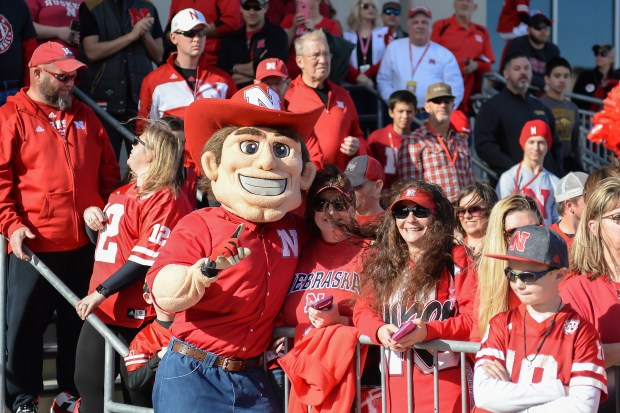 The mascot for the Nebraska Cornhuskers ...