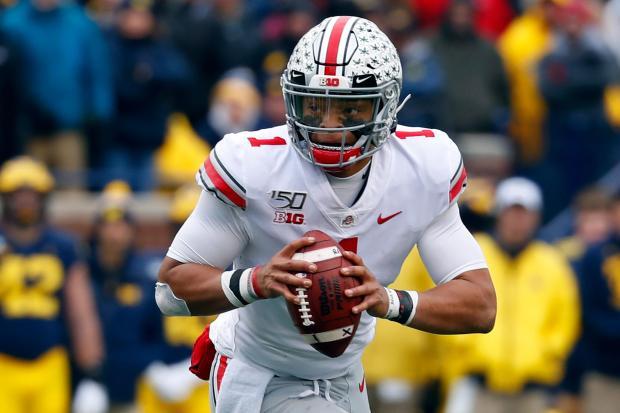 Ohio State quarterback Justin Fields ...