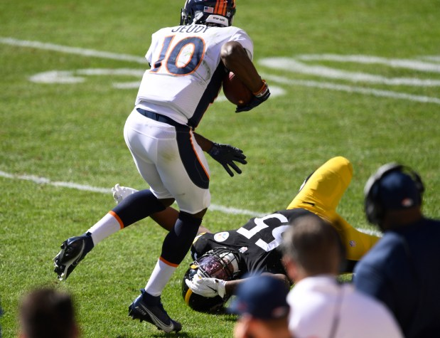 Denver Broncos wide receiver Jerry Jeudy ...