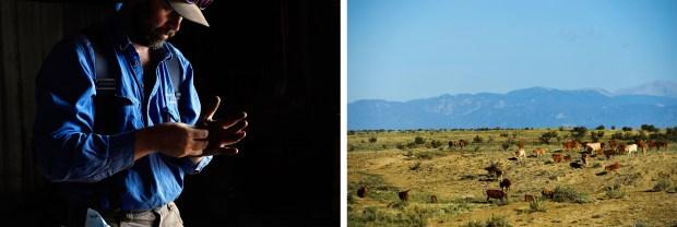 At left: Ranch Foreman Jake Meldon ...