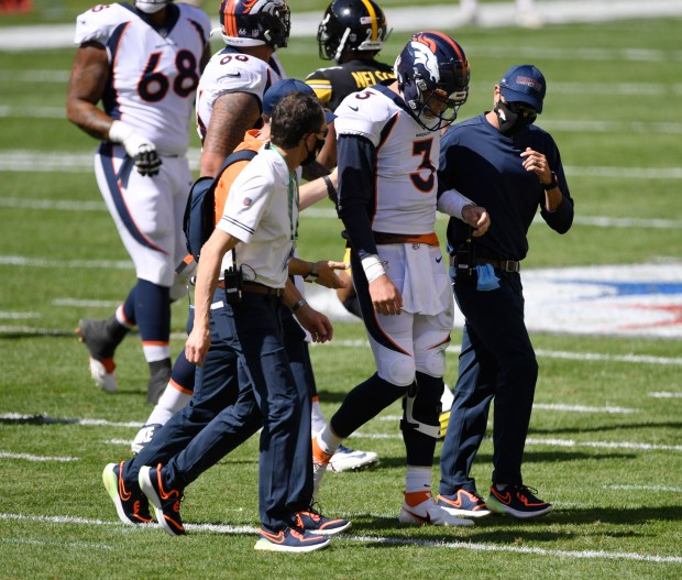 Trainers take Denver Broncos quarterback Drew ...