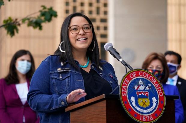Colorado State Senator Julie Gonzales speaks ...