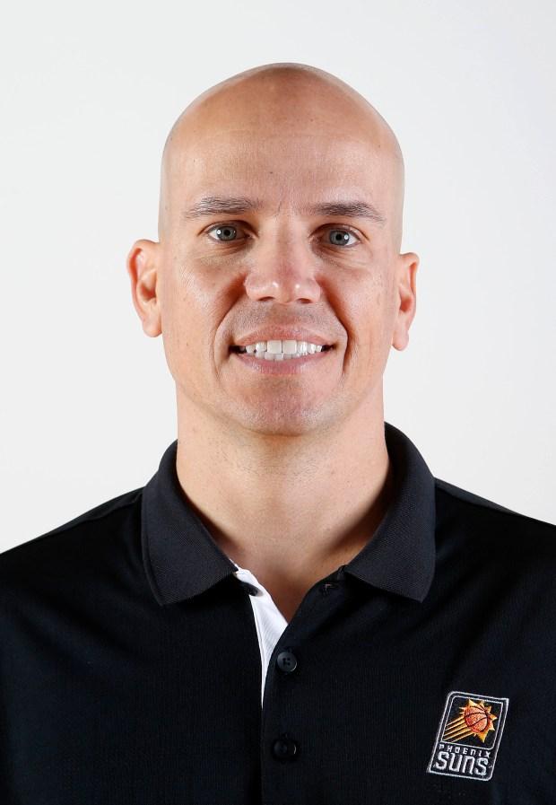 Phoenix Suns assistant coach Nate Bjorkgren ...