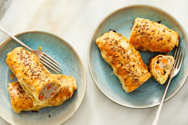 Pork and fennel sausage rolls in ...