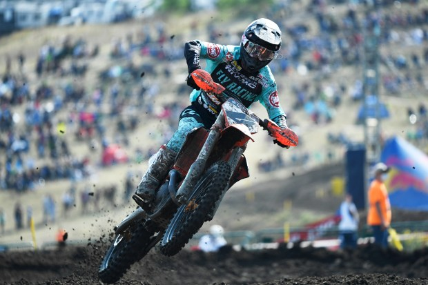 Blake Baggett, #4, on course during ...