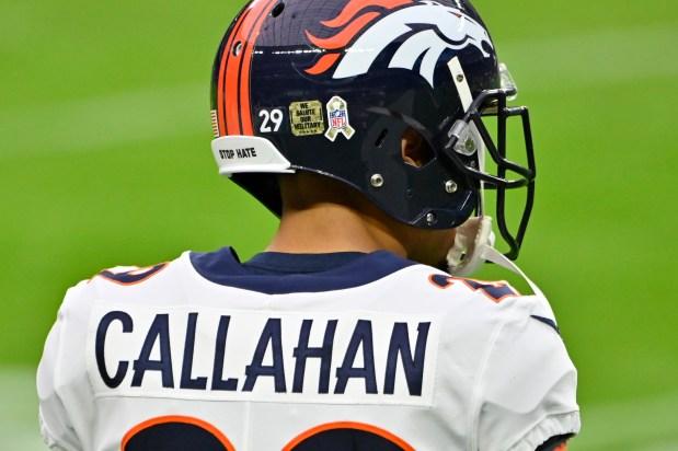 Denver Broncos cornerback Bryce Callahan (29) ...