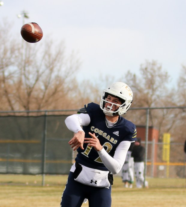 IMG 3250 - Evergreen QB Griffin Lauritano, who briefly left Colorado after fall football cancelation, forced to sit out from playoffs due to transfer rule