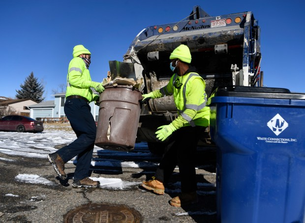 Waste Connections sanitation workers, Lucas Cassidy, ...