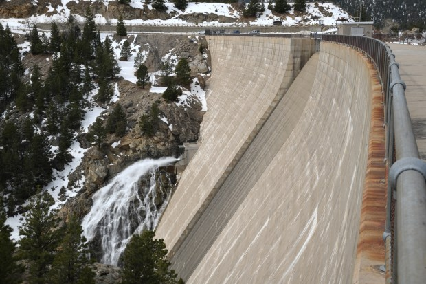 Photo taken water from the spillway ...