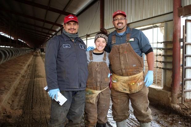 Aurora Organic Dairy team members. ...
