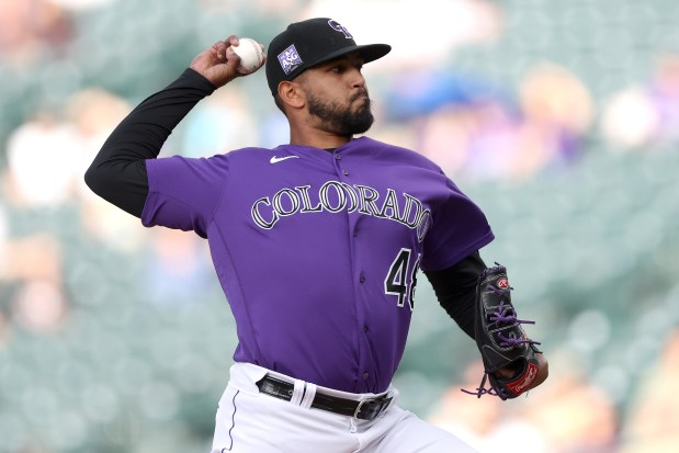 Starting pitcher Germain Marquez #48 of ...