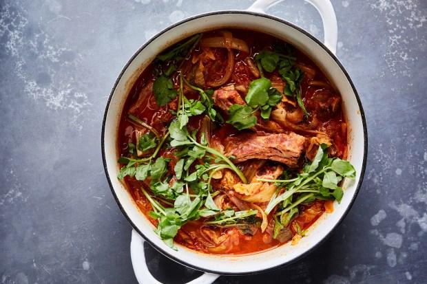 Kimchi Jjigae with ribs in New ...