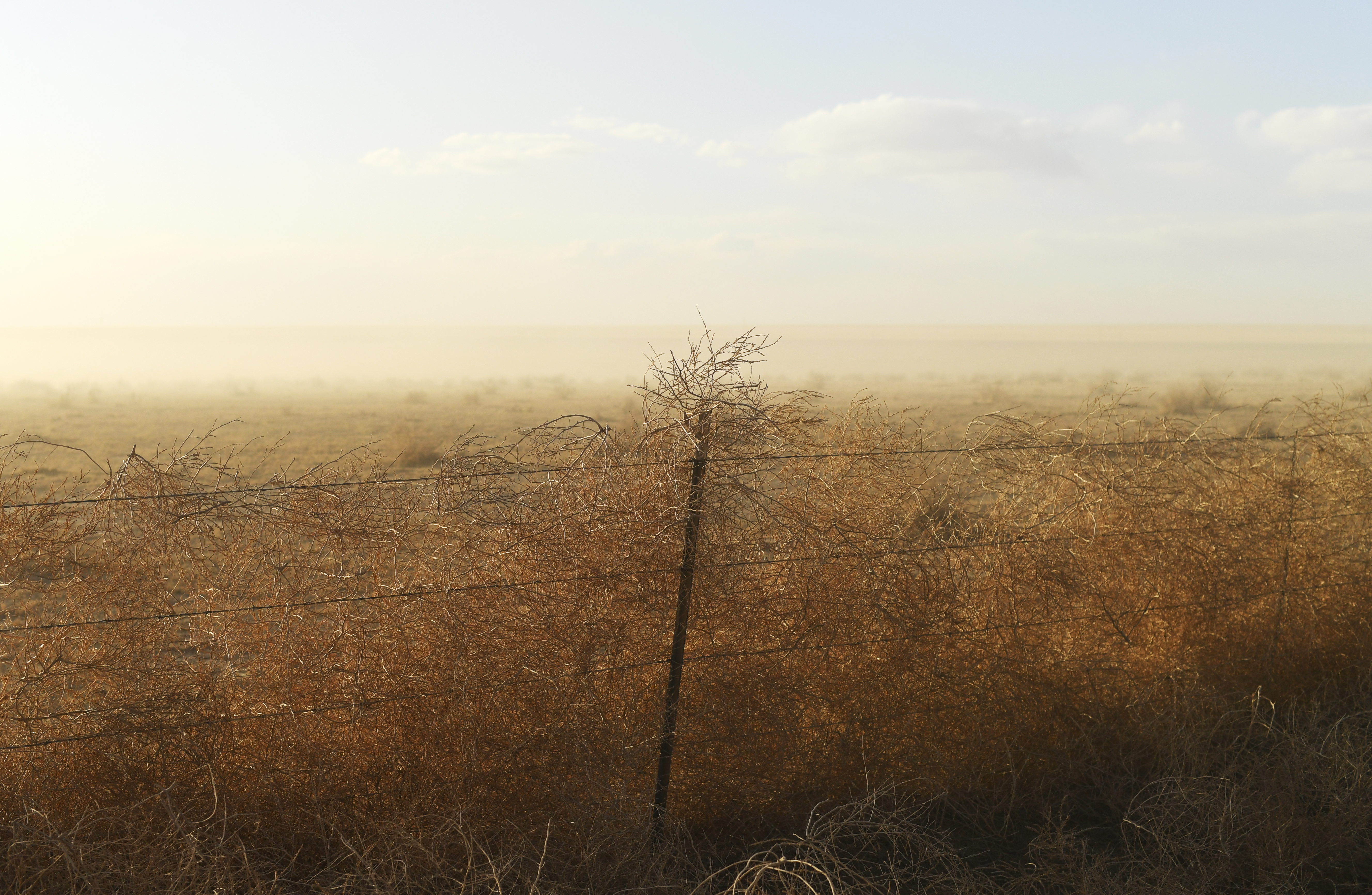 A dust storm blows through southern ...