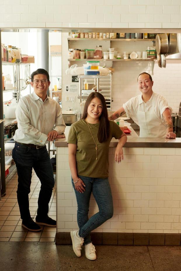 Hanson Li, left, and Tiffany Yam, ...