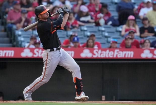 Baltimore Orioles designated hitter Trey Mancini ...