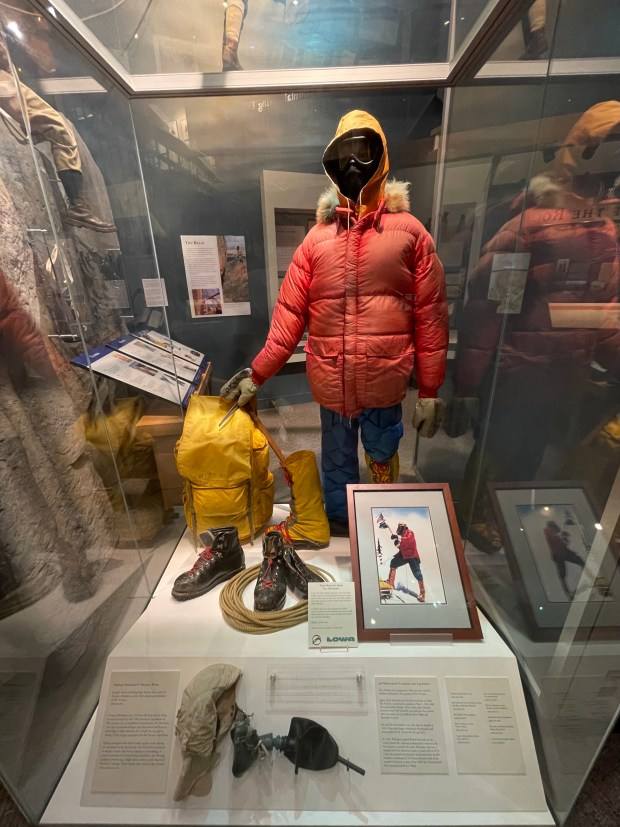 One exhibit at the American Mountaineering ...