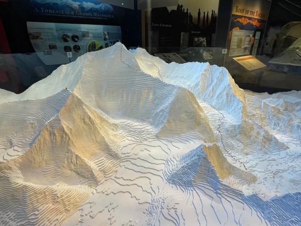 A massive model of Mount Everest ...