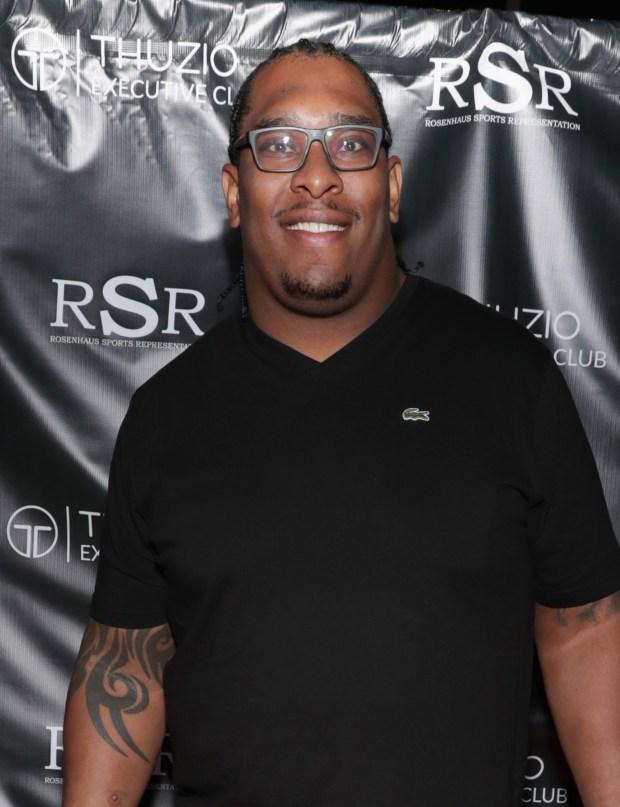 NFL player Orlando Franklin arrives at ...