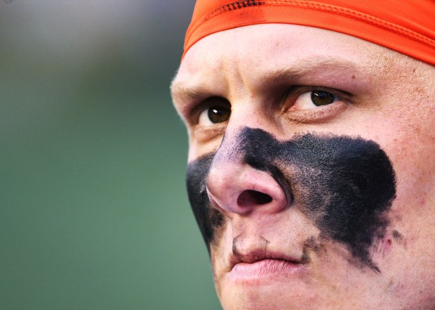Denver Broncos offensive tackle Garett Bolles ...
