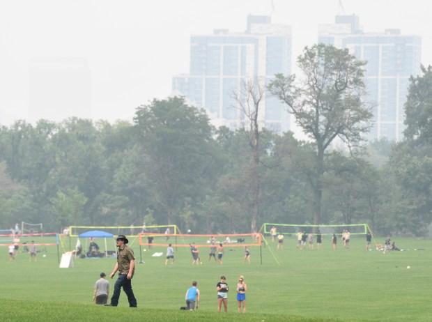 Folks enjoy outdoor activities at Washington ...