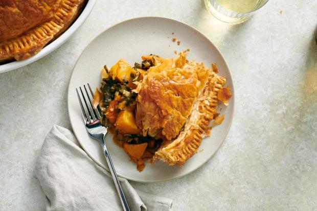 A savory butternut squash pie in ...