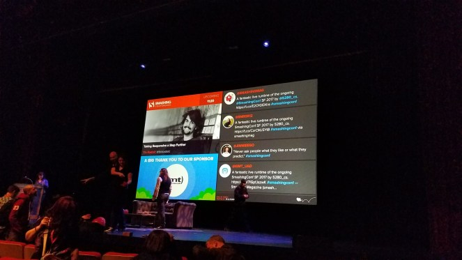 I loved the conference, and the conference loved me back by shouting me out on their main screen.