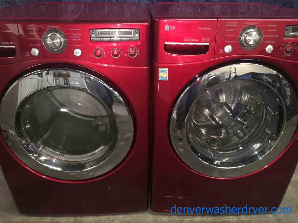Large Images For Cherry Red True Steam Lg Front Loader