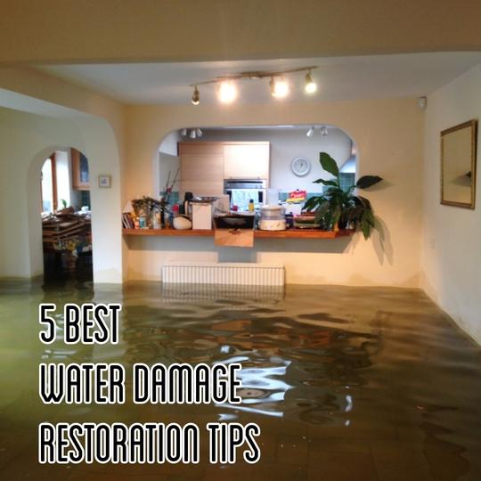 5 best water damage restoration tips